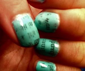 aqua blue, design, and my nails image