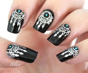 nails, dreamcatcher, and black image