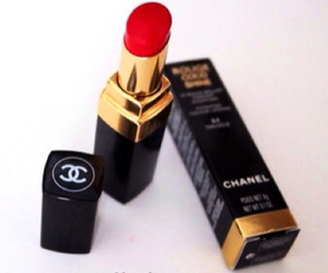 chanel, red, and lipstick image
