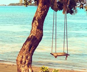 beach, summer, and tree image