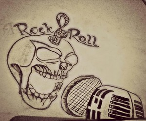 drawing and rock'n roll image