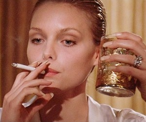 cigarette, michelle pfeiffer, and scarface image