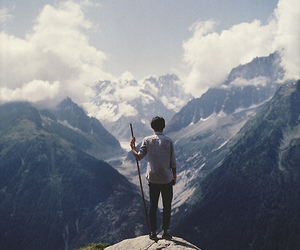 nature, mountains, and boy image