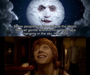 harry potter, moon, and potter image