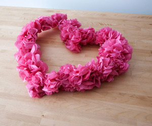 heart, flowers, and pink image