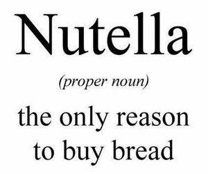 nutella, bread, and food image