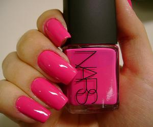 nails, pink, and nars image