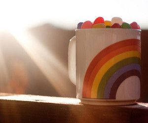 rainbow and cup image