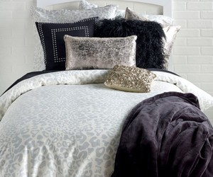 animal print, bedroom, and black image