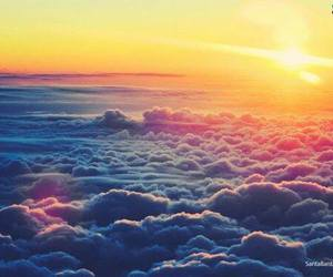 clouds, sun, and sky image
