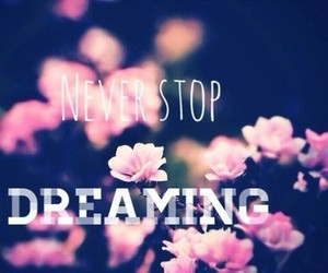 Dream, dreaming, and flowers image