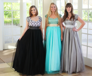 dresses, modest, and Prom image