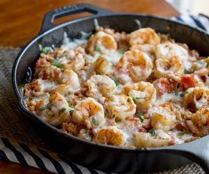 food, shrimp, and cheese image