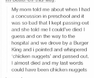 legend, tumblr, and chicken nuggets image