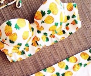 bandeau, bikini, and pinapple image