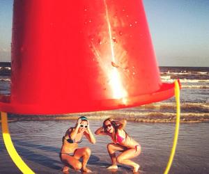 beach, summer, and best friends image