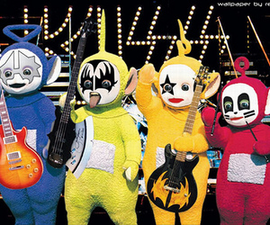 kiss, rock, and teletubbies image