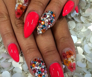 bling, luxury, and pointy nails image