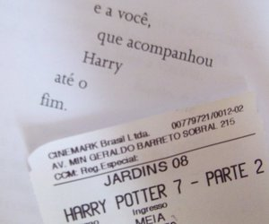 book, harry potter, and ticket image