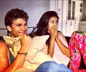 shay mitchell, pretty little liars, and keegan allen image