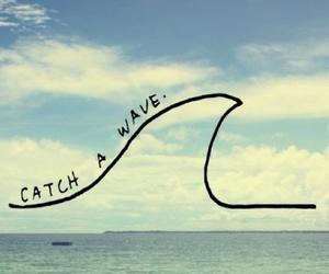 waves, surf, and summer image