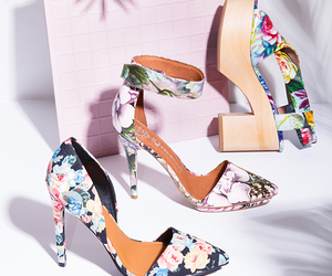 floral, pumps, and summer image