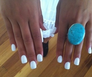 nails, ring, and pretty image