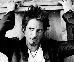 audioslave, black and white, and chris cornell image