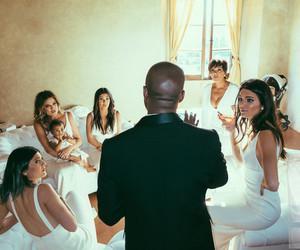 kanye west, wedding, and kardashian image