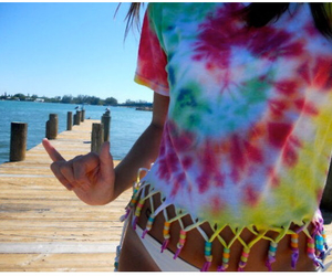 summer, beach, and tie dye image