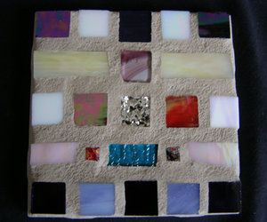 home decor, stained glass, and glass coaster image