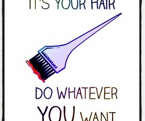 hair, color, and quotes image