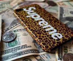 dope, iphone, and money image