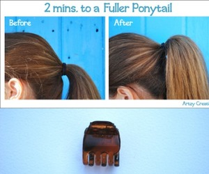 hairstyles, ponytail, and diy image