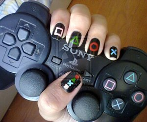 joystick, nail, and nail art image