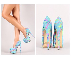 blue, colourful, and heels image
