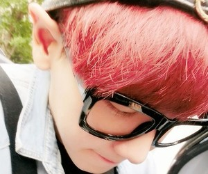 adorable, red hair, and exo image