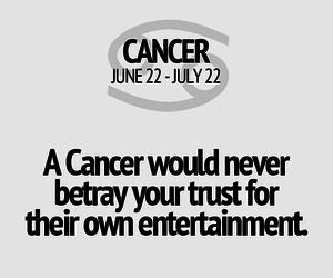 cancer, true, and zodiac image
