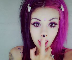 alt girl, goth, and pastel goth image