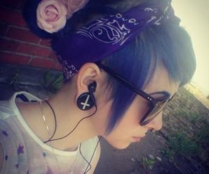 blue hair, sarah sorceress, and girl image