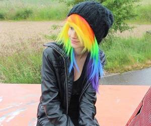 scene, emo, and rainbow hair image