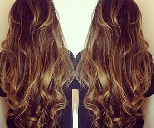 beautiful, curls, and brunete image