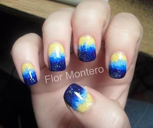 blue, glitter, and gradient image