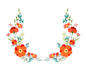 crown, floral, and flower image