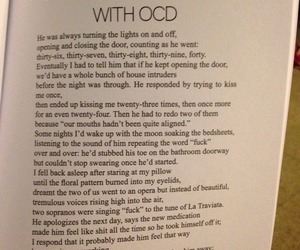 ocd, quote, and sad image