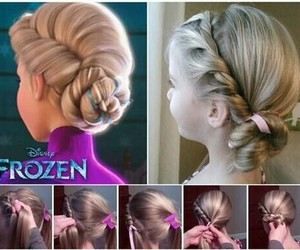 frozen, hair, and hairstyle image