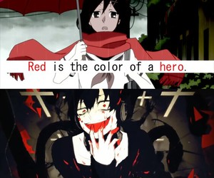 anime, black, and blood image
