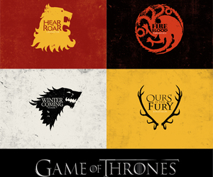 winter is coming, fire and blood, and hear me roar image