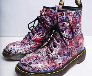 colorful, doc martens, and fashion image