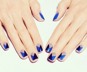 blue, lacquer, and manicure image